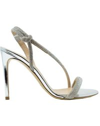 Ninalilou Women's 311038l9 Silver Leather Sandals - Metallic