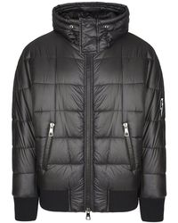 Neil Barrett Hooded Down Jacket - Black