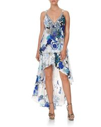 Camilla Women's 3702 Tank With Strap Bead Detail In Blue