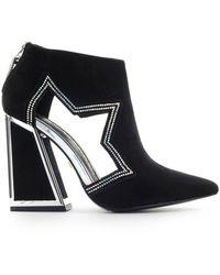 Kat Maconie Women's Dusty Black Suede Ankle Boots