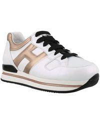 Hogan Women's Hxw2220t548ob80989 White Leather Sneakers