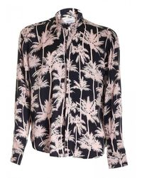 Laneus Black Shirt And Pink Print Palme Cmu6525cc8 Var4