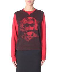 Iceberg Women's E0114012s1y1 Red Cotton Sweatshirt