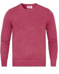 Gran Sasso 23107/18165 Vintage Wash Sweater In Blue Or Pink