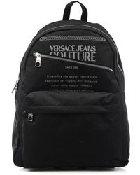 Versace Backpack With Logo - Black