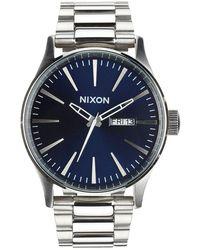Nixon Sentry Ss Watch - Blue Sunray Colour: Blue Sunray - Metallic