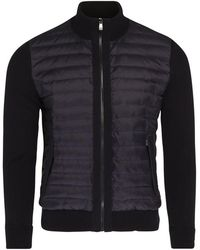 Corneliani Quilted Bomber (navy) - Blue