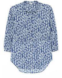 White Stuff Ladies Sewing Collared Jersey Tunic - Blue