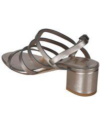 Roberto Del Carlo Leather Sandals - Metallic