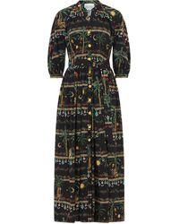 Hayley Menzies Midnight Safari Midi Dress - Black