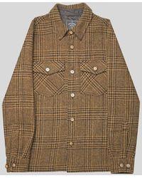 Portuguese Flannel Wood Wool Jacket - Brown