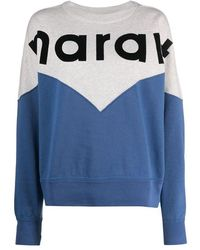 Isabel Marant Women's Sw025520a066eblue Blue Cotton Sweatshirt