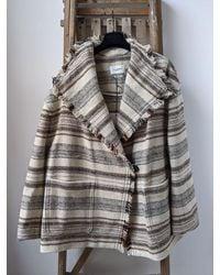 Étoile Isabel Marant Josia Woven Coat - Grey