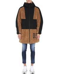 DSquared² - Coat With Logo - Lyst