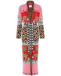 Hayley Menzies Leopardess Cotton Duster - Pink