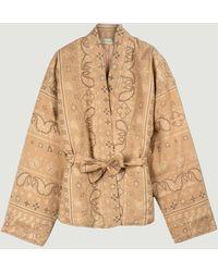 Mes Demoiselles Arizona Kimono Jacket Beige - Natural