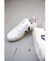 Veja V-10 Extra White Nautico Pekin Sneakers