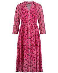 POM Amsterdam Sp6503 Dress - Strawberry Pink - White
