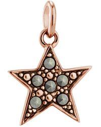 Kirstin Ash Bespoke Star Marcasite Charm - Rose Gold - Metallic