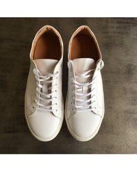 SELECTED Donna White Leather Trainers