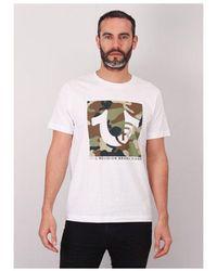 True Religion Boxed Trademark Ss Crew T-shirt Colour: Optic White, Siz