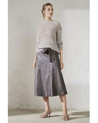 Luisa Cerano Mohair Crew Knit - Gray