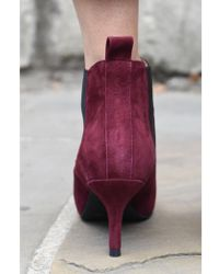 Shoe The Bear - Agnete Burgundy Suede Boots - Lyst