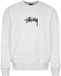 Stussy Sweatshirt Stock App - Grey