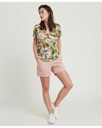 Hartford Tropical V-neck T-shirt - Green