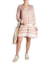 Cecilie Copenhagen - Long Sleeve Woven Cotton Mini-dress - Lyst