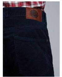 Pretty Green - Corduroy 5 Pocket Trousers Navy - Lyst