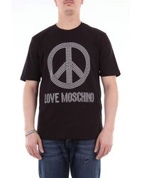 Love Moschino Short Sleeve T-shirt With Front Application - Black