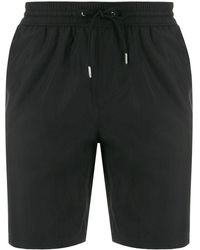 Burberry Side Striped Logo Swim Shorts - Black