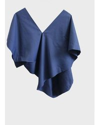 132 5. Issey Miyake Matched Top - Ink - Blue
