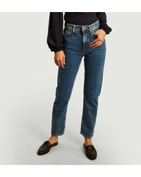 Nudie Jeans Breezy Britt Regular Tapered Jeans Friendly Blue Jeans