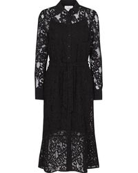 Just Female Mille Lace Dress In - Black