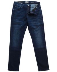 7 For All Mankind Seven For All Mankind Slimmy Tapered Luxury Cashmere Blend Jeans Denim - Blue
