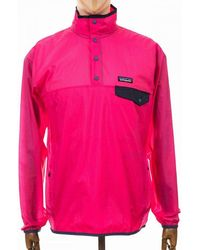Patagonia Ultra Pink Mens Houdini Snap-t Pullover