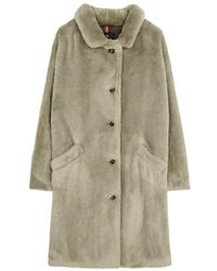 Paul Smith Faux Fur Coat - Green