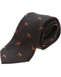 Paul Smith Dogs Tie - Black