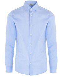 Z Zegna Men's Zcsf1805101 Light Blue Other Materials Shirt