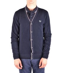Fred Perry Cardigan In Blue
