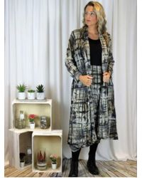Out Of Xile Sheer Coat Natural - Multicolour