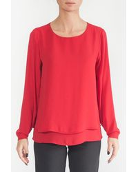 Sfizio Blouse With Like-rouched - Red