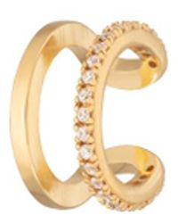 Scream Pretty Double Band Single Ear Cuff - Metallic