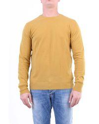 Jeordie's Knitwear Crewneck Men Mustard - Yellow
