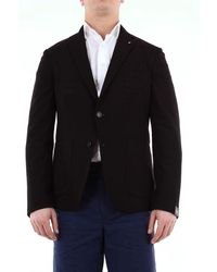 Jeordie's Single-breasted Solid Colour Jacket - Black