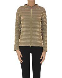 Herno Metallic Effect Fabric Down Jacket