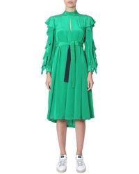 Golden Goose Deluxe Brand Women's G35wp058a1 Green Silk Dress