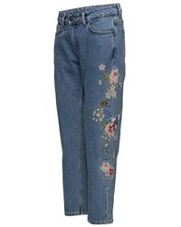 Just Female - Flower Rock Jeans - Lyst